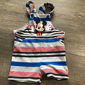 Disney Baby Mickey Mouse overall shorts